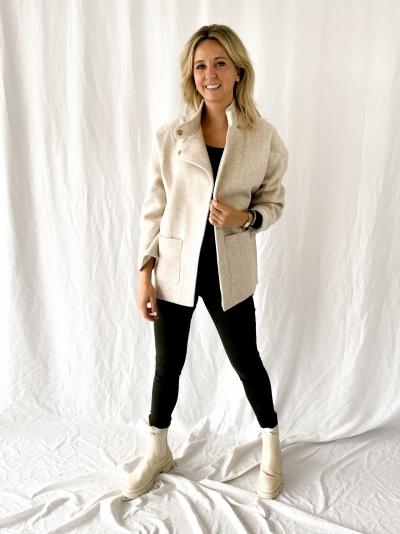 Wool veste beige