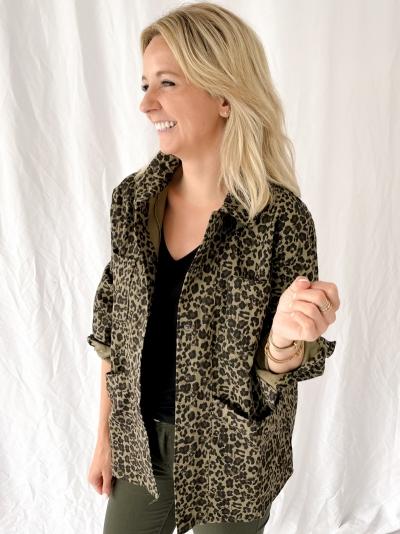 Leopard jacket logo