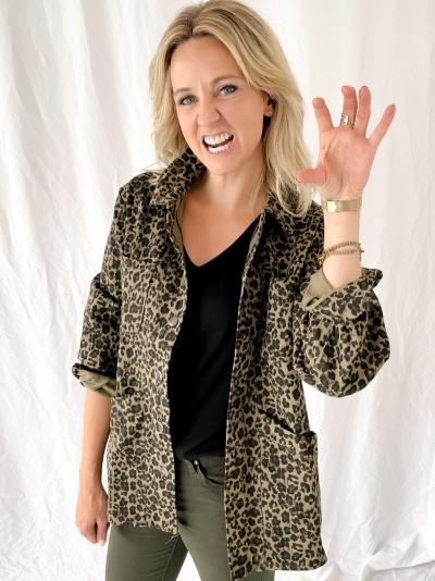 Leopard jacket leopard