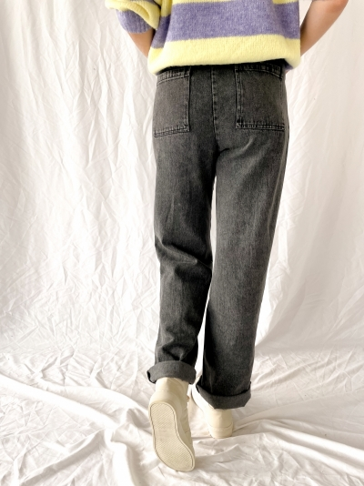Edgy jeans gris