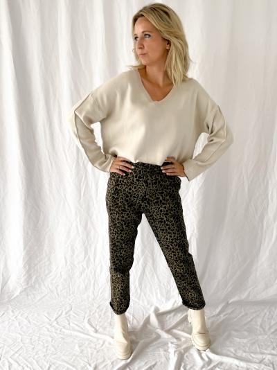 Leopard jeans leopard