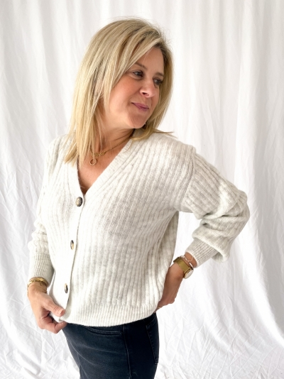 Goldie Cardigan off white