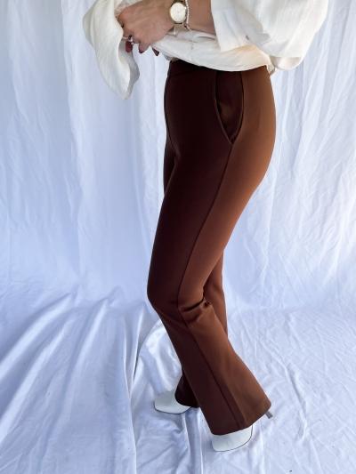 Tanny flare pants logo