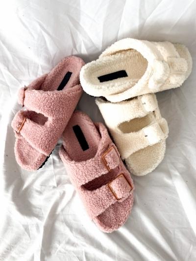 Furry bio buckle pink