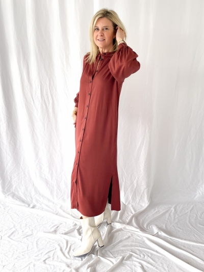 Winny dress cherry mahogany