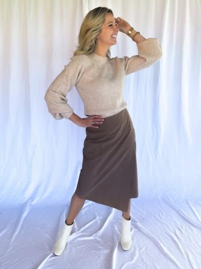 Elsie Tudoria knit sugar melange