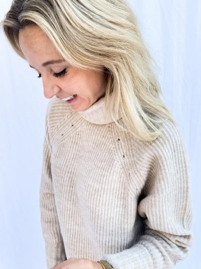 Shyla frey knit oyster melane