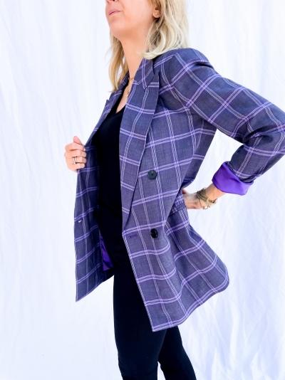 Delores oversized blazer purple