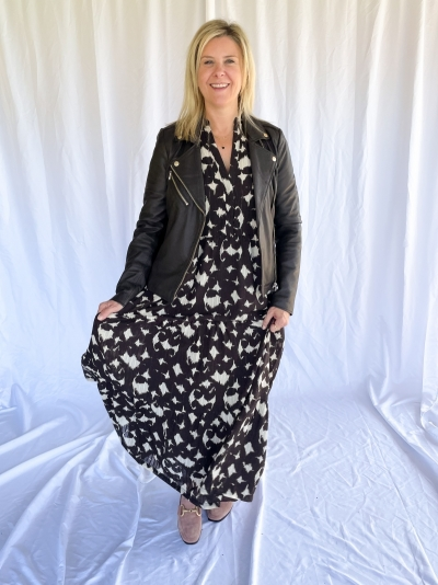 Alyssa Floor Dress mocca
