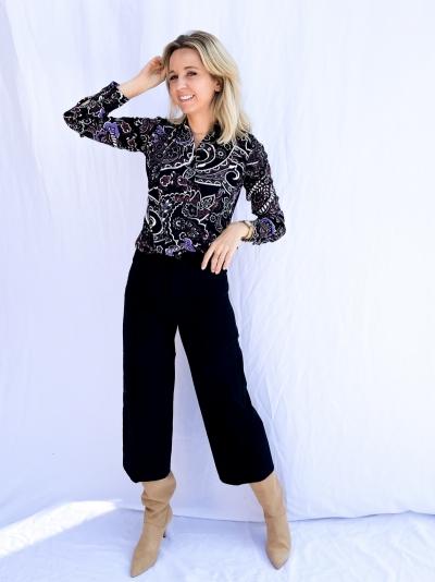 Big Paisley blouse multi color