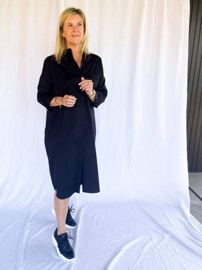 Daddle dress black