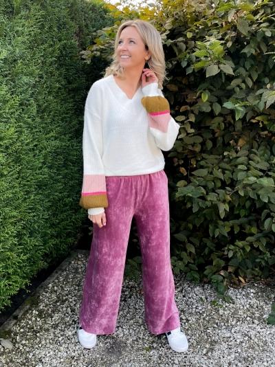 Vianna sweater army/pink