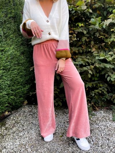 Yara cardigan army/pink