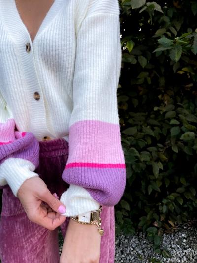 Yara cardigan pink/purple