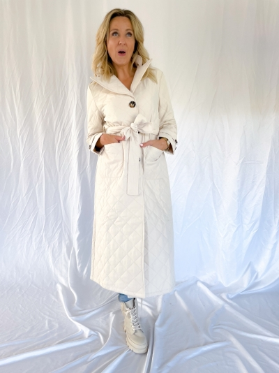 Flora coat winter white