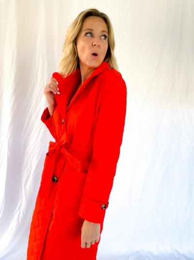 Flora coat orange