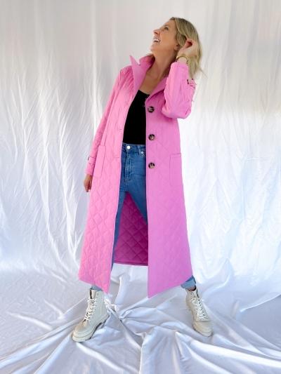 Flora coat pink