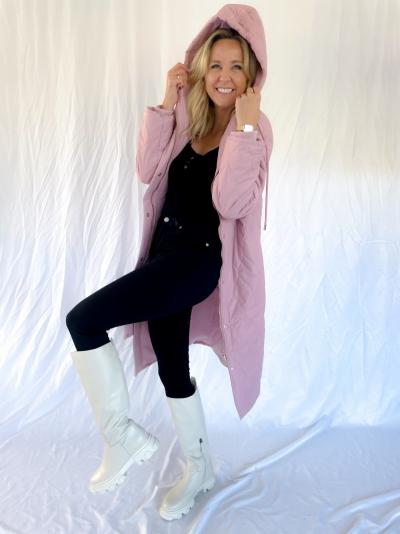 Sage coat soft pink