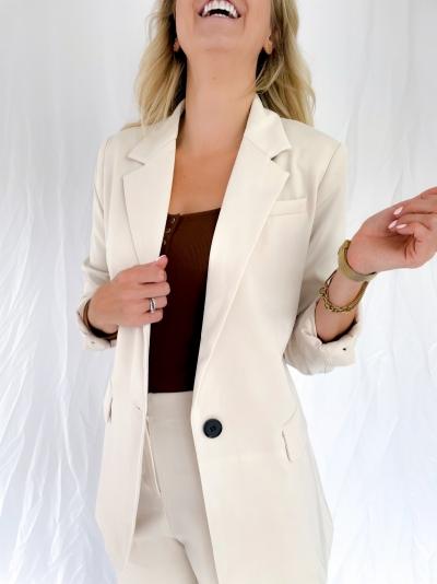 Maisie blazer winter white
