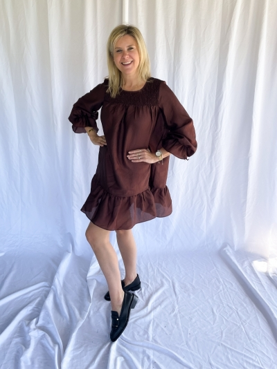 Rosalina dress brown stone