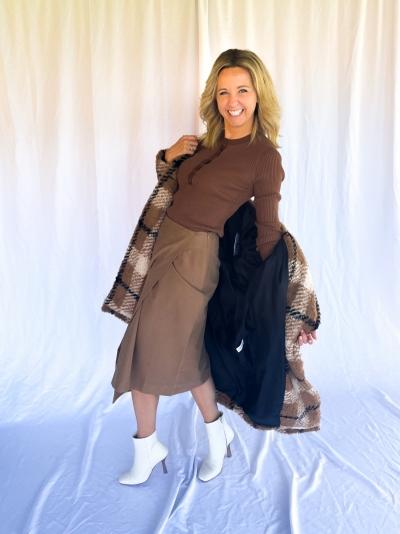 Badu grandad knit brown