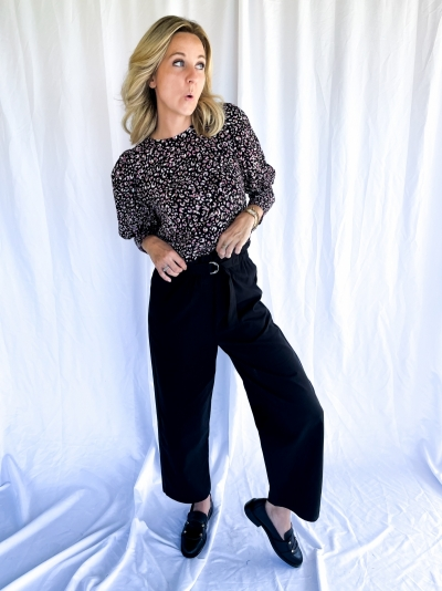 Austin black blouse multicolor