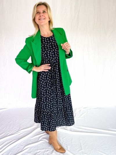 Flash oversized blazer green