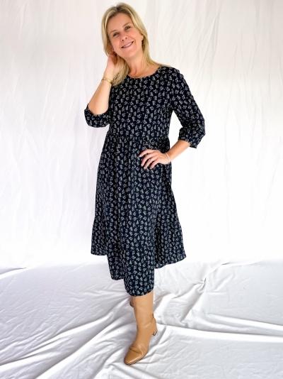 Fabiola dress navy/lilac