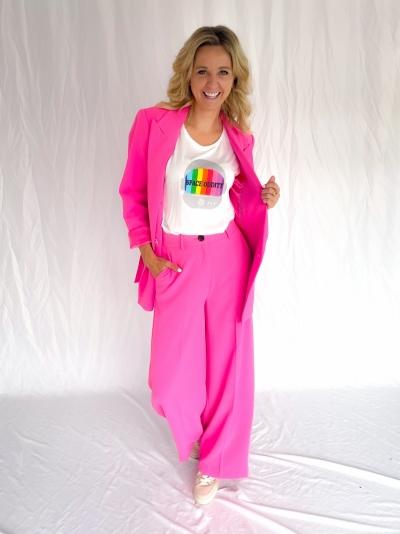 Flash wide pants pink