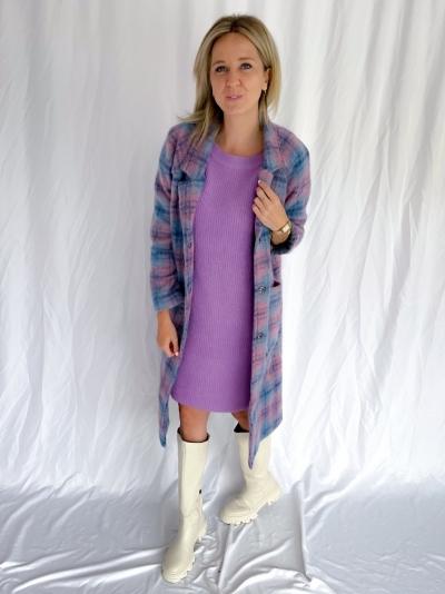 Saso Coat blue/rose
