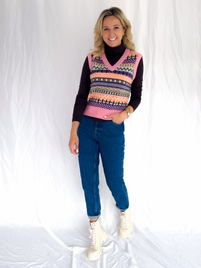 Torie Ainsley knit mix pattern