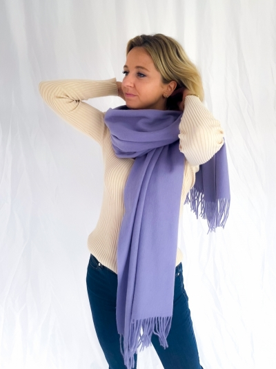 Sid stacy scarf lavender blush