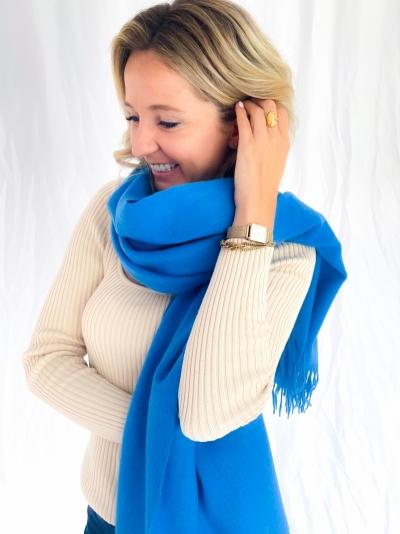 Sid stacy scarf lapis blue