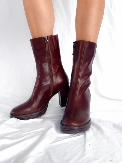 Khaki boots terracota