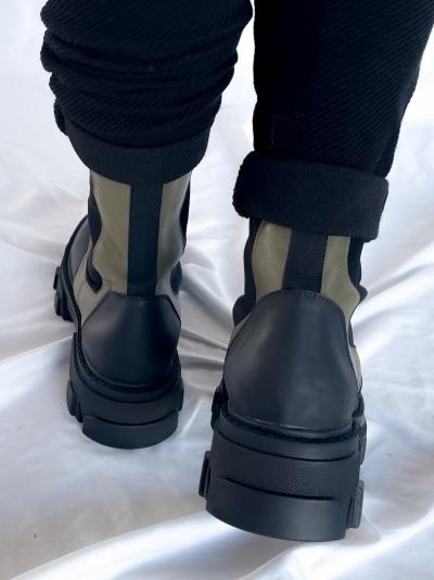 Khaki boots khaki