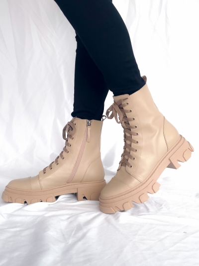 Nude boots nude