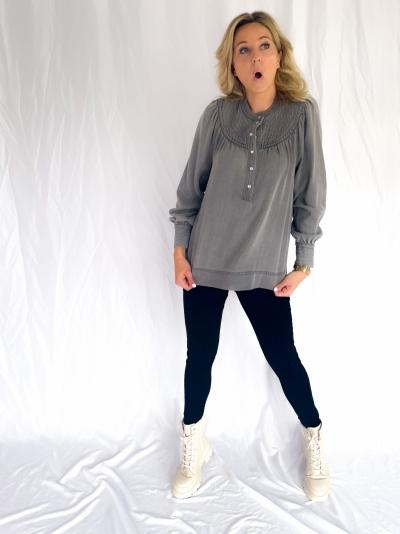 Rya shirt wash grey