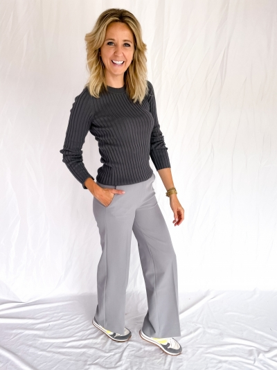Dena knitted pull iron grey