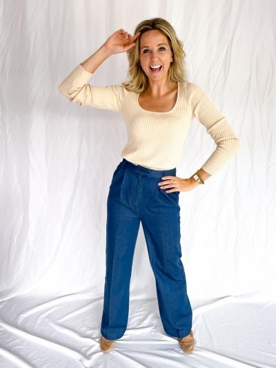 Moore denim pants blue denim