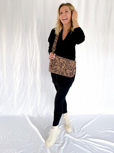 Big Tiger Shoulder bag warm camel