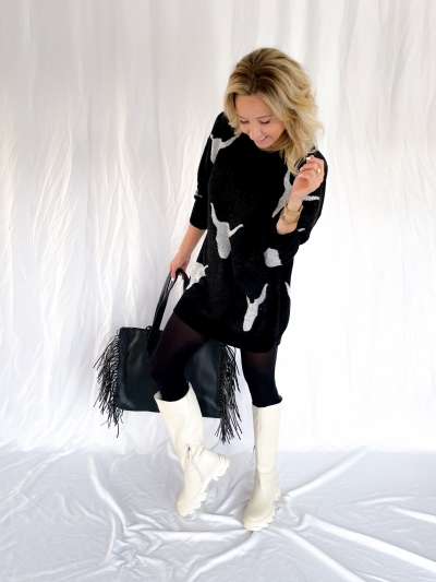 Faux Leather shopper black