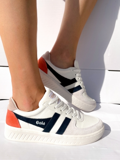 Grandslam sneakers wht/navy/blosso