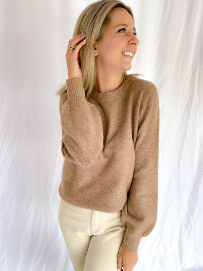 Jessiki Helanor knit pearwood melang