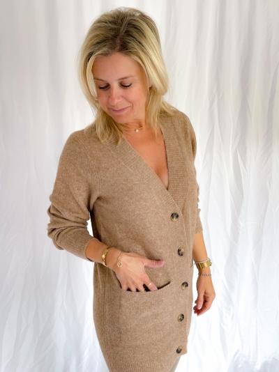 Jessiki Manish knit pearwood melang