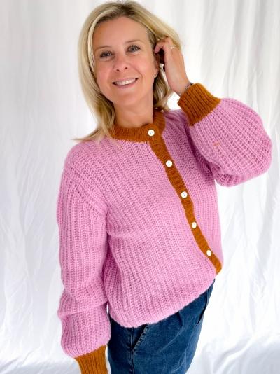 Woodson Rosean knit pink pumpkin co