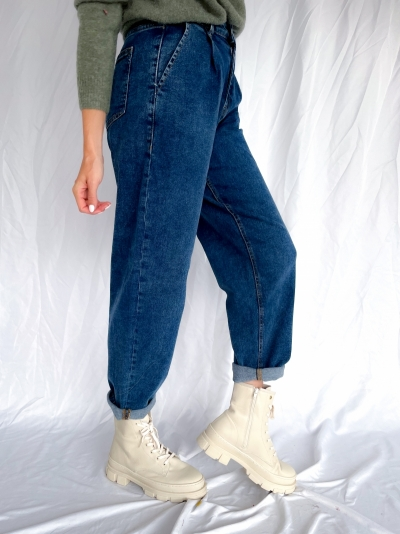 Hasna Rikka Ankle jeans mid blue