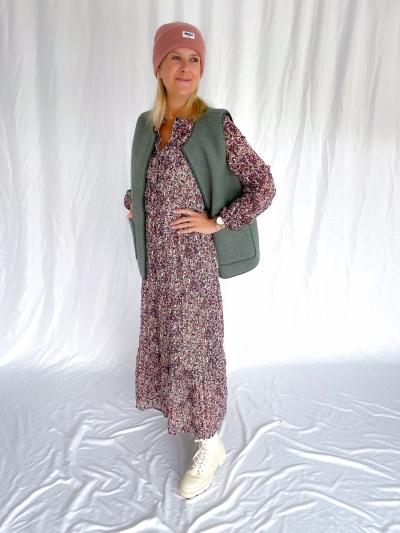 Kaline Maxi dress lint flower