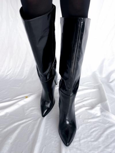 Bota de punta black