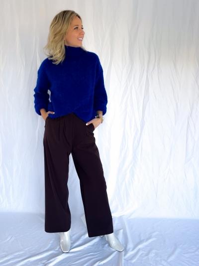 Jalia trousers chocolate plum